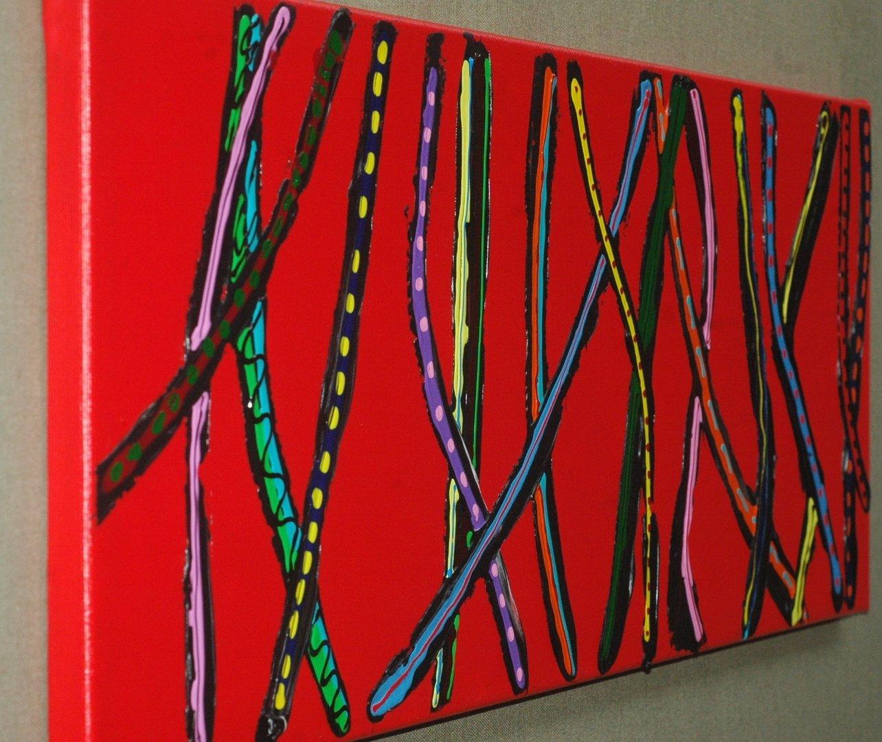 acryl leinwand 80 x 30 cm silberstreif. Black Bedroom Furniture Sets. Home Design Ideas