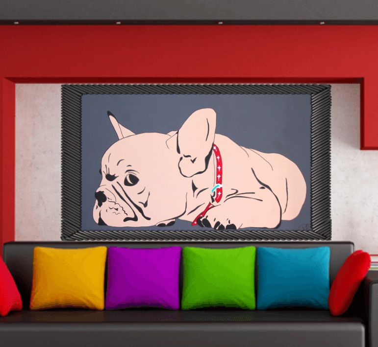 100x60cm XL French Bulldog